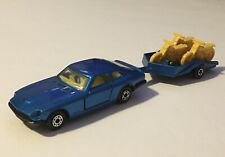 Matchbox Superfast No.67 Datsun 260 Z 2+2 W/Motorcycle Trailer 💯🔥🔥🔥