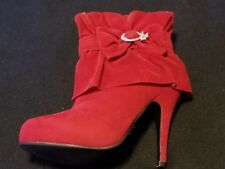 Womens red booties size 7