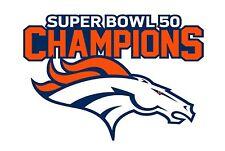 "Denver Broncos SUPER BOWL 50 CHAMPIONS Decal - Sticker Car Truck Outdoor 5.5""x4"""