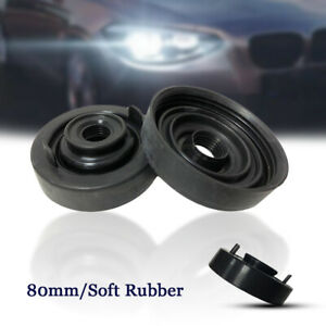 2PCS 80mm Car Headlight Dust Cover Soft Rubber For LED HID Xenon Lamp Waterproof
