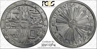1969-SO 1000 PESOS URUGUAY F.A.O. SILVER PCGS GENUINE CLEANED BEAUTIFUL COIN!