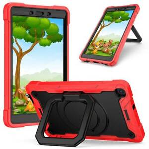 For Samsung Galaxy Tab A 8 10.1 2019 Shockproof Rotating Stand Strap Case Cover