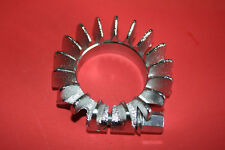 """TRIUMPH 1 3/4"""" EXHAUST CHROME FINNED CLAMP ROSE BOLT & WASHER 71-0216   70-4501"""