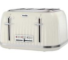 BREVILLE Impressions VTT702 4-Slice Toaster - Vanilla Cream - Currys