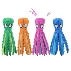8 Legs Octopus Soft Stuffed Plush Dog Toys Outdoor Play Interactive Squeaky Dogs