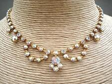Pristine Vintage 50's Aurora Crystal Drape Necklace - Wedding/Prom?