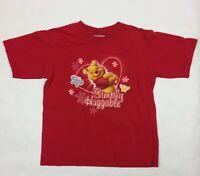 S - Girls' - THE DISNEY STORE - Short-Sleeve T-Shirt, Tee - WINNIE THE POOH Red