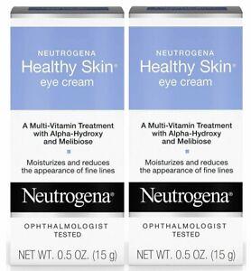 2x Neutrogena HEALTHY SKIN multi-vitamin EYE CREAM .5oz Alpha-Hydroxy Acid