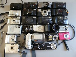 JOB LOT OF DIGITAL AND 35MM COMPACT CAMERAS - FOR SPARES OR REPAIR