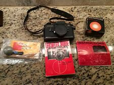 Leica Leicaflex SL 35mm SLR Film Camera Body Only with Original Manual and Book