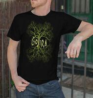 Gojira Men Black T-Shirt Metal Band Fan Tee Shirt Tree Logo Tee Trend 2019