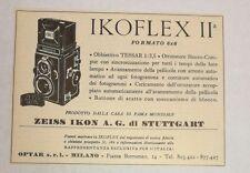 Pubblicità 1953 IKOFLEX ZEISS IKON FOTO PHOTO old advertising publicitè reklame