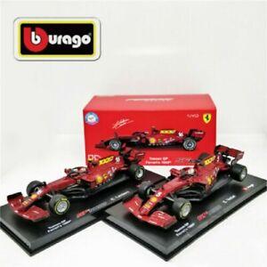 BBURAGO 1:43 Signature Series 2020 FERRARI F1 SF1000 Charles Leclerc #5 Vettel