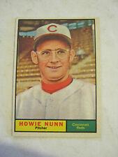 1961 Topps #346 Howie Nunn Baseball Card, Good Cond (GS2-b11)
