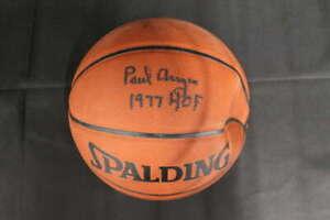 PAUL ARIZIN SIGNED SPALDING NBA ALL SURFACE BASKETBALL 1977 HOF JSA COA ZA639