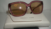 Michael Kors New Sunglasses Transparent Rose MK6016 Sandestin 3053R1 54 16 135