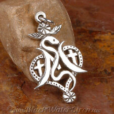 VOODOO - MARIE LAVEAU - Veve Charm Pendant STERLING Silver 925 Lwa Vodou