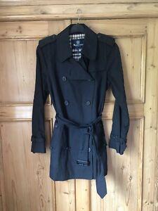Aquascutum Black Trench Coat Women 12