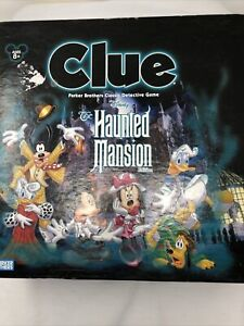 Disney Clue  The Haunted Mansion Edition Parker Brothers Board Game Complete