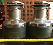 Barient 28 Self Tailing Winch Pair 3 speed Manual Chrome  WORKS!
