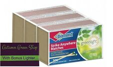 STRIKE Matches ANYWHERE 3 Boxes of 300ct Large Wood KITCHEN W/FREE Lighter!!!!
