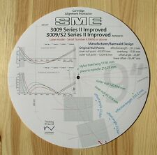 SME 3009 Series II Improved & SME 3009/S2 Improved (Late) Tonearm Protractor