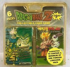 Dragon Ball Z Collectible Card Game 6 Packs Sealed Collectible Gift