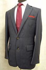 Men's Navy Check Chester Barrie Suit Jacket Blazer 38R SK798