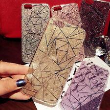 Slim Housse Etui Coque Bling Diamant Rigide Hard Bumper Transparent Pr iphone 8