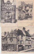 Lot 4 cartes postales anciennes COMPIEGNE vieilles maisons 2