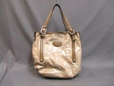 Auth TOD'S G Bag Beige Brown Coated Canvas &  Leather Tote Bag w/Dust Bag