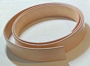 "10 oz Veg Tanned Natural Leather Belt Blanks 50"" Length 1.5"" Width"
