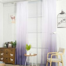 New Purple Gradient Color Tulle Curtains for Living Room Bedroom Voile Curtain