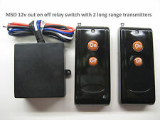 MSD 12V on off relay switch with 2 long range remote transmitters RS101P2