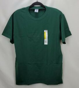 JerZees Short Sleeve Solid Forest Green T Shirt Large Heavyweight 50/50 Crew