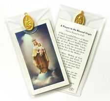 MARY OUR LADY OF MOUNT CARMEL - PRAYER CARD & MEDAL