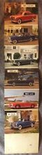 Vintage Mercedes Benz Auto ADVERTISING Postcard foldout with stats 1950s#497