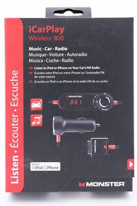 Monster Cable iCarPlay Wireless 800 FM Transmitter iPhone iPod iPad Kfz MP3 591