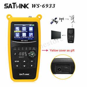 SATLINK WS-6933 Digital Satellite Signal Finder Meter DVB-S/S2 FTA for SAT Dish