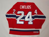 CHRIS CHELIOS SIGNED #24 CCM VINTAGE MONTREAL CANADIENS JERSEY PROOF JSA COA