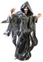 Fantasmas Ghoul Capa con Capucha Gris Halloween Disfraz Fantasma Zombie Muerte