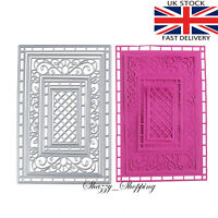 7 piece lace lattice rectangle set metal cutting die cutter UK seller Fast Post