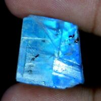 Natural Blue Power Rainbow Moonstone Fire Rough Slab For African Gemstone BB2016