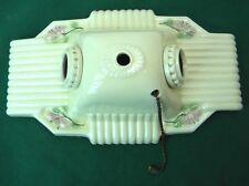 Vintage Double Ceiling Wall-Mount Porcelain Ceramic Light Fixture Floral (S3)