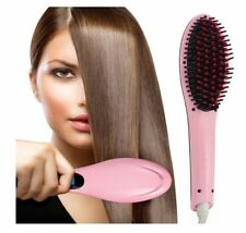 FAST HOT ELECTRIC HAIR STRAIGHTNER BRUSH ELECTRIC COMB FLAT IRON STYLING(