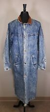 Essentials International Choice Long Jean Acid Wash Vtg Denim Coat Duster Dress