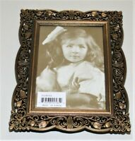 Antique Brass Finished Picture Frame, Victorian Era Styling, Made in Korea