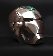 CATTOYS 1/1 FULL Metal Iron Man MK42 LED Helmet with R/C full polished limited