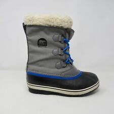 Sorel Boots Carnival Waterproof Nylon Grey PewterSnow Boots Womens 6