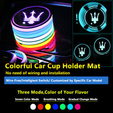 2pcs Colorful LED Coaster Atmosphere Car Light Bulbs For Maserati Neon Lights